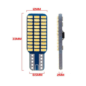 Image 5 - 5x Car LED T10 192 194 168 W5W LED Bulbs 33 SMD 3014 Tail Lights Dome Lamp White DC 12V Canbus Error Free Auto Accessories
