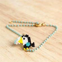 Shinus 10pcs/lot Delica Miyuki Bracelet  Animal Parrot Bracelets Women Pulseras Mujer 2019 Simple Summer Toucan Pattern Jewelry