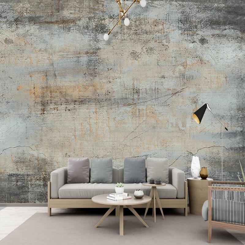 Custom Any Size Mural Wallpaper 3D Retro Cement Wall Fresco Restaurant Cafe Background Wall Decor Papel De Parede 3 D Wallpapers