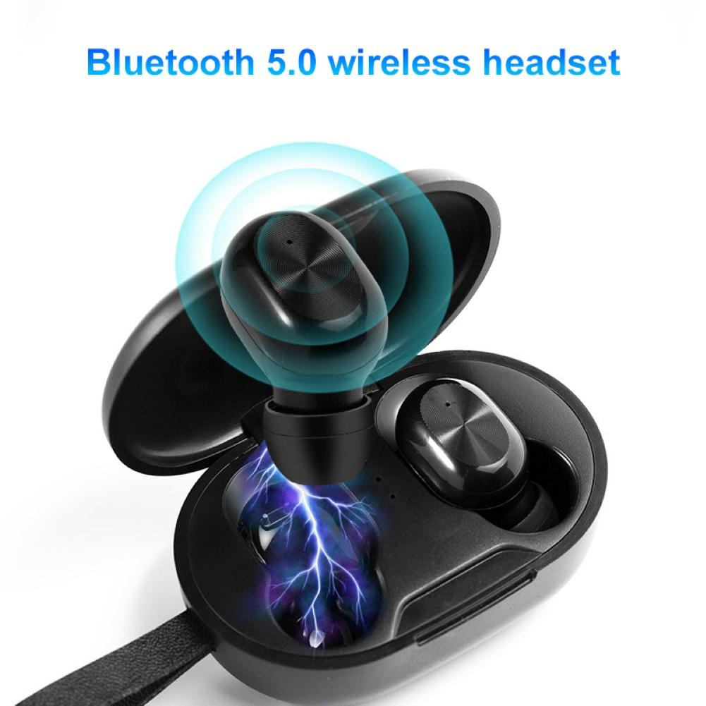TWS Wireless Bluetooth Earphone 5.0 Mini Wireless Headphones Sports Earbuds Waterproof Gaming Headset with Mic