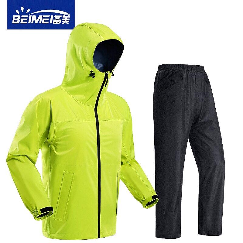 Waterproof Pants Raincoat Jacket Adult Set Motorcycle Men Raincoat Yellow Survival Outdoor Poncho Impermeable Suit Rain JJ60YY