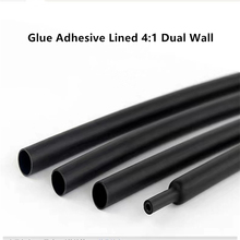 1METER Transparent Heat Shrink Tube Shrinkable Tubing Sleeving Wrap  4:1 Dual Wall Sleeve Wire Cable kit