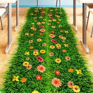 Green Lawn Floor Sticker Vinyl DIY Grass Home Decor Sticker for Kids Rooms Baby Bedroom Nursery Home Decoration