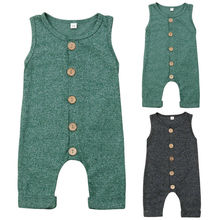 цены 0-24M Newborn Cotton Linen Romper Toddler Baby Boy Girls Summer Romper Button Jumpsuit Outfits Sunsuits