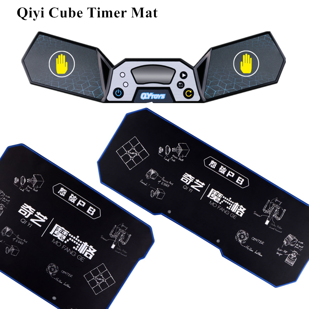 Qiyi Cube Timer Mat Speeding Competition Timer Training Mat Speed Cube WCA Puzzle Kids Educational Toys Magic Cube