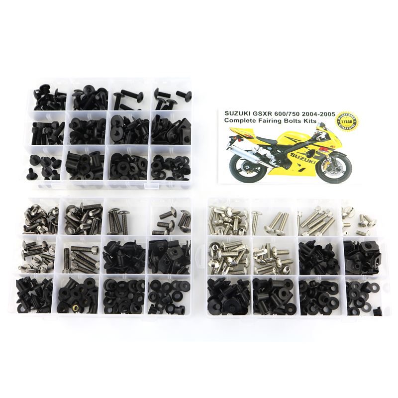 For Suzuki GSX-R600 GSXR 600 750 2004 2005 Complete Full Fairing Bolts Kit Speed Nuts Side Covering Screws  Steel