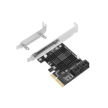 Add On Cards PCIE 3.0 To 5 Ports SATA 6 Gpbs Expansion Hub Controller SSD PCI Express X4 Gen3 Adapter With Heat Sink