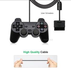 Image 4 - Contrôleur filaire couleur transparente pour manette de jeu PS2 Vibration manette Joypad couleur pour contrôleur Playstation 2