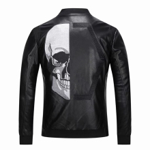 Jacket Winter Veste Skull En Casual New Autumn Fashion PP Windbreaker Cuir Homme Sports-Style