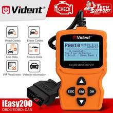 Vident ieasy200 obdii/eobd + pode leitor de código para a verificação da luz do motor do veículo
