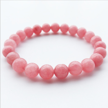 High Quality 8mm Elasticity Red Stone Beaded Bracelet Yoga Energy Natural Male&Female Gifts