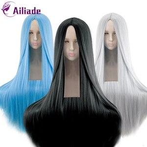 Женский парик AILIADE, синтетический термостойкий длинный прямой костюм для косплея, длина 100 см/39 дюймов, вечерние волосы на Хэллоуин и карнава...