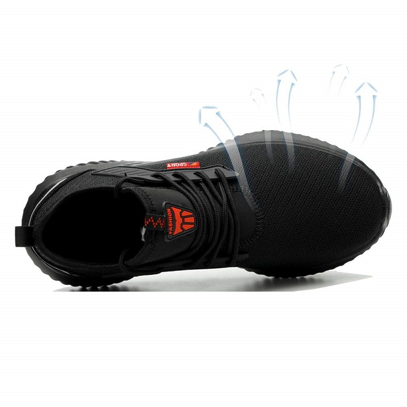 JACKSHIBO All Season Safety Work Shoes Boots For Men Anti-Smashing Steel Toe Cap Shoes Indestructible Safety Boots Work Sneakers 4
