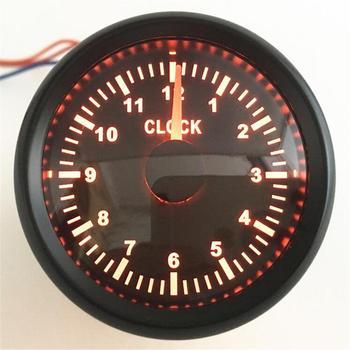 Zestaw 1 wskaźnik 52mm wskaźniki zegarowe czerwone podświetlenie 0-12 godzin zegar z wyświetlaczem mierniki Auto Hourmeters 9-32v dla motocykli łódź samochodowa tanie i dobre opinie Kadir Koc None stainless steel 316L bezel+glass+pvc China Clock gauges 0 20kgs Front mtg hole 52mm