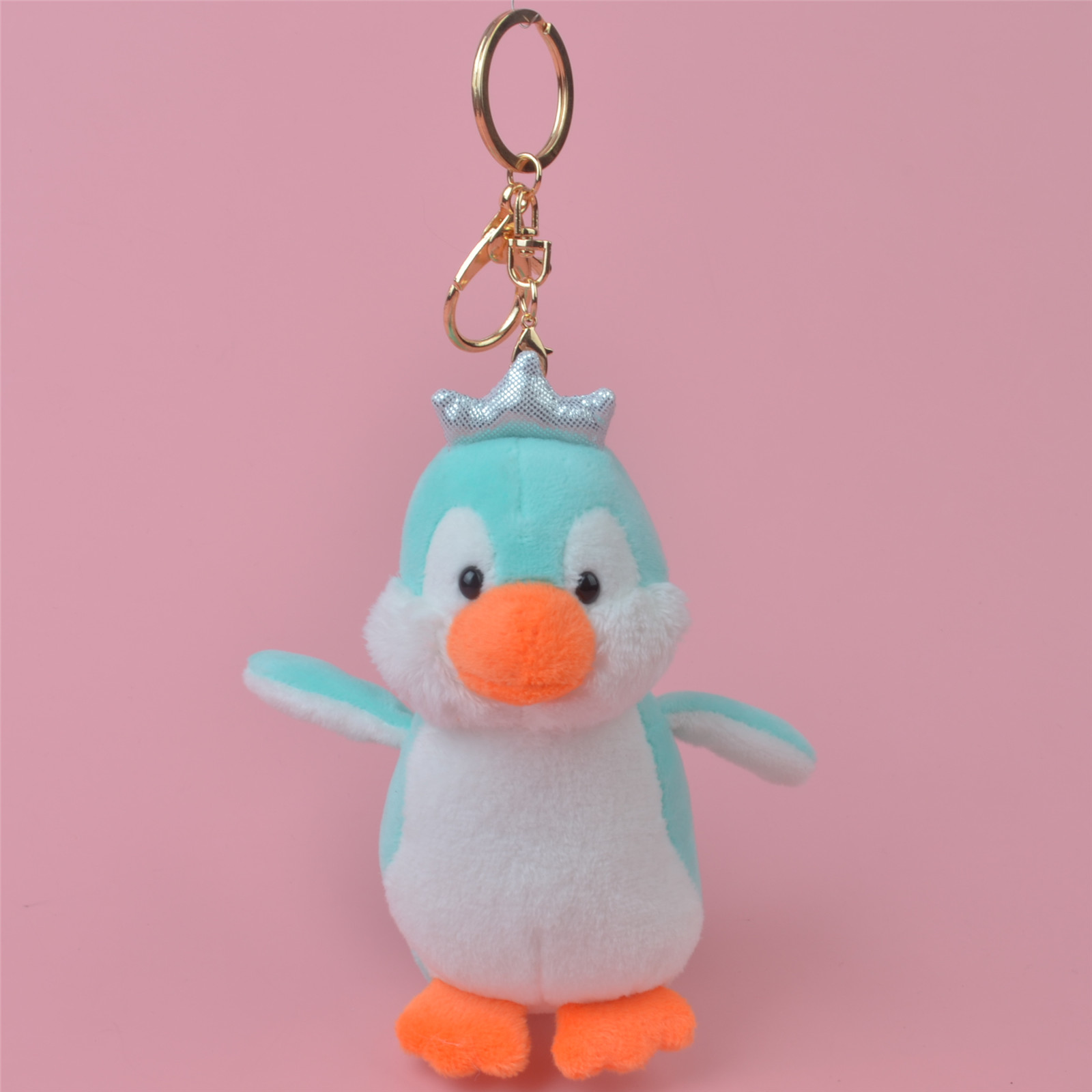 1pc 10CM Lovely Penguin Plush Doll Fluffy Faux Fur Key Chain Rings Pompon Keychain Car Women Bags Charms Jewelry For Gift