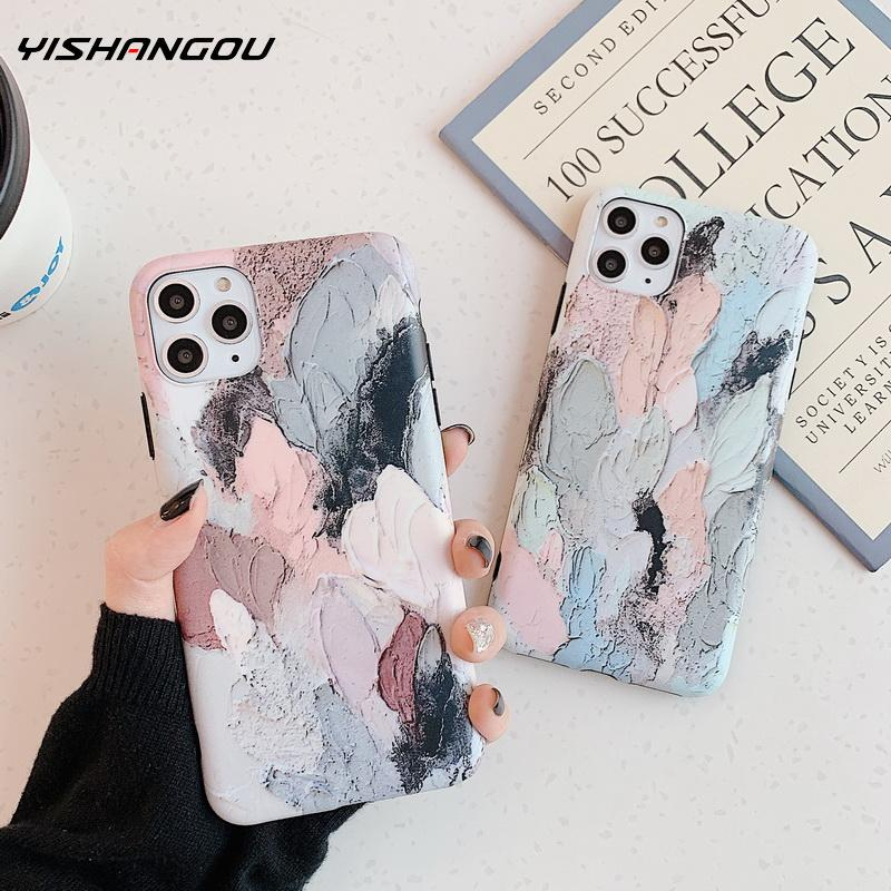 Colorful Oil Painting Matte Cover For iphone 6 6s 7 8 plus SE 2 Artistic Graffiti Phone Cases For iphone X XS 11 pro MAX XR Case|Phone Case & Covers| - AliExpress