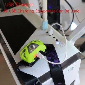 Image 2 - Usb充電式 + バッテリーXML T6 ヘッドランプミニヘッドライトir誘導ledヘッドランプ釣り懐中電灯ヘッドランプトーチ