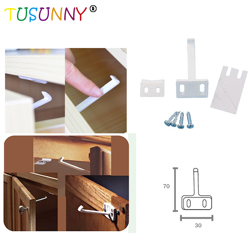 TUSUNNY 4 Pcs Per Lot Infant Protection Product Baby Safety Lock Baby Lock Use In Drawer,Cabinet,Cupboard