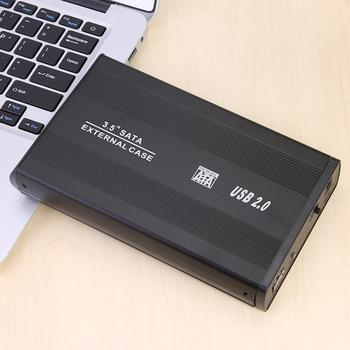 Hot Sale Hard Disk Case 3.5 inch Aluminum Alloy Wear-resistant HDD Case SATA to USB3.0 Adapter External HDD Enclosure