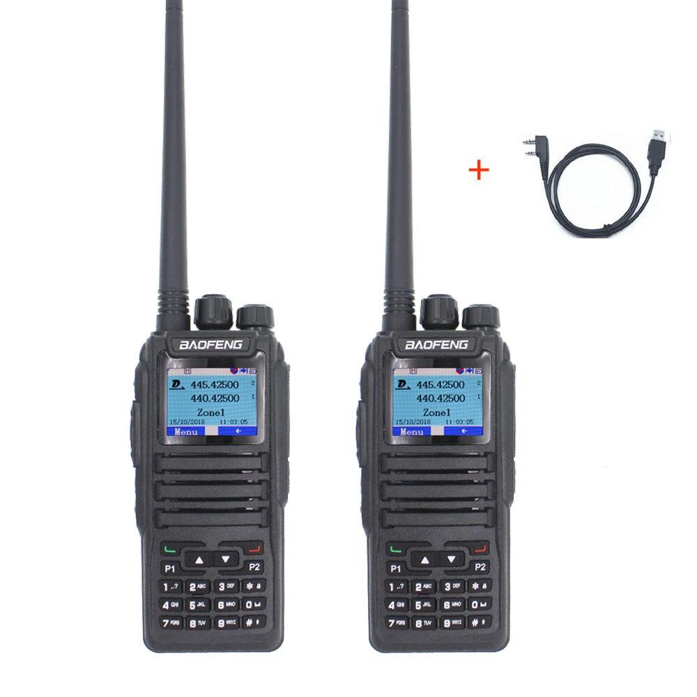 2PCS Baofeng Dual Mode Analog & Digital Walkie Talkie DM-1701 Dual Time Slot Dual Band VHF & UHF Two Way Radio