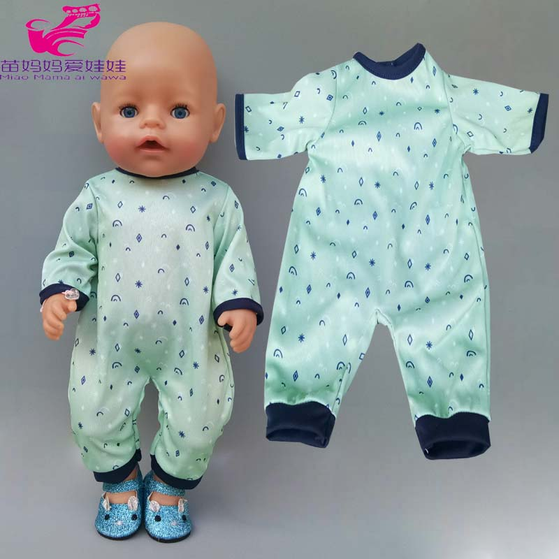 40cm Baby Reborn Doll Boy Pajama Clothes 40cm Doll Clothes Children Girl Toys Wears Gift