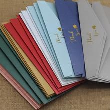 50 adet/grup yüksek kalite #5 200GSM kağıt zarflar mektup teşekkür ederim, sizin için davetiye düğün zarflar