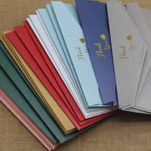 50pcs/lot High Quality #5 200GSM Paper Envelopes With Letter THANK YOU, FOR YOU Invitation Wedding Envelopes