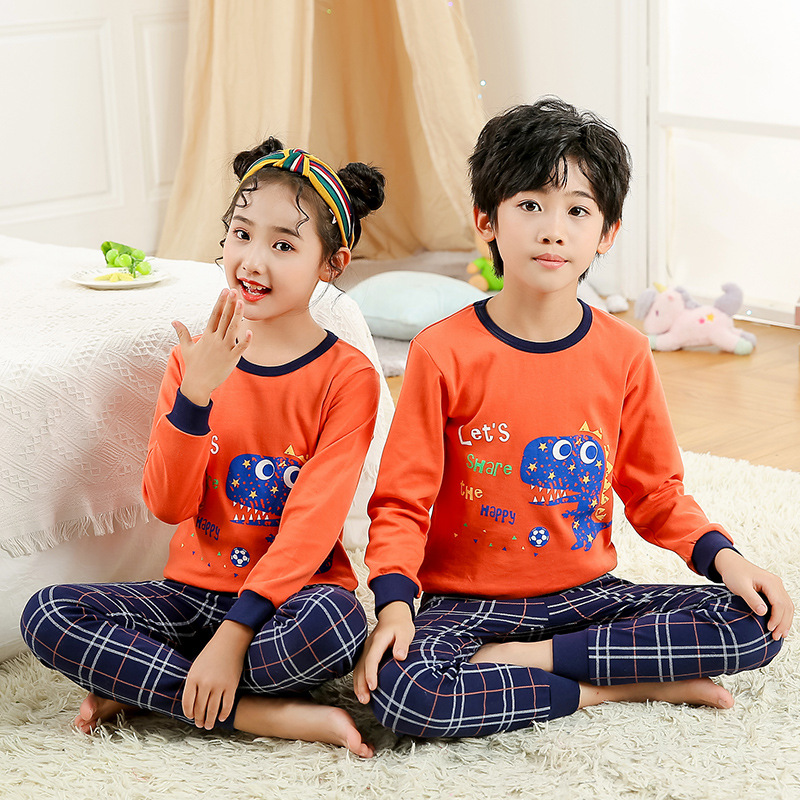 New Children Cotton Pajamas Sets Winter Baby Girls Boys Clothes Cartoon Kids Sleepwear Long Sleeve Tops Pants Kids Pyjamas Set