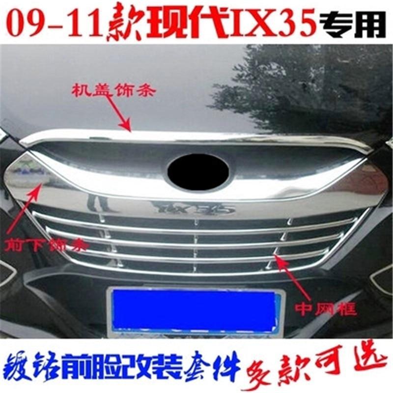 Kadore for Hyundai Santa Fe 2010 2011 ABS Chrome Exterior Front Headlight Lamp Hood Bezel Trim 2PCS//Set