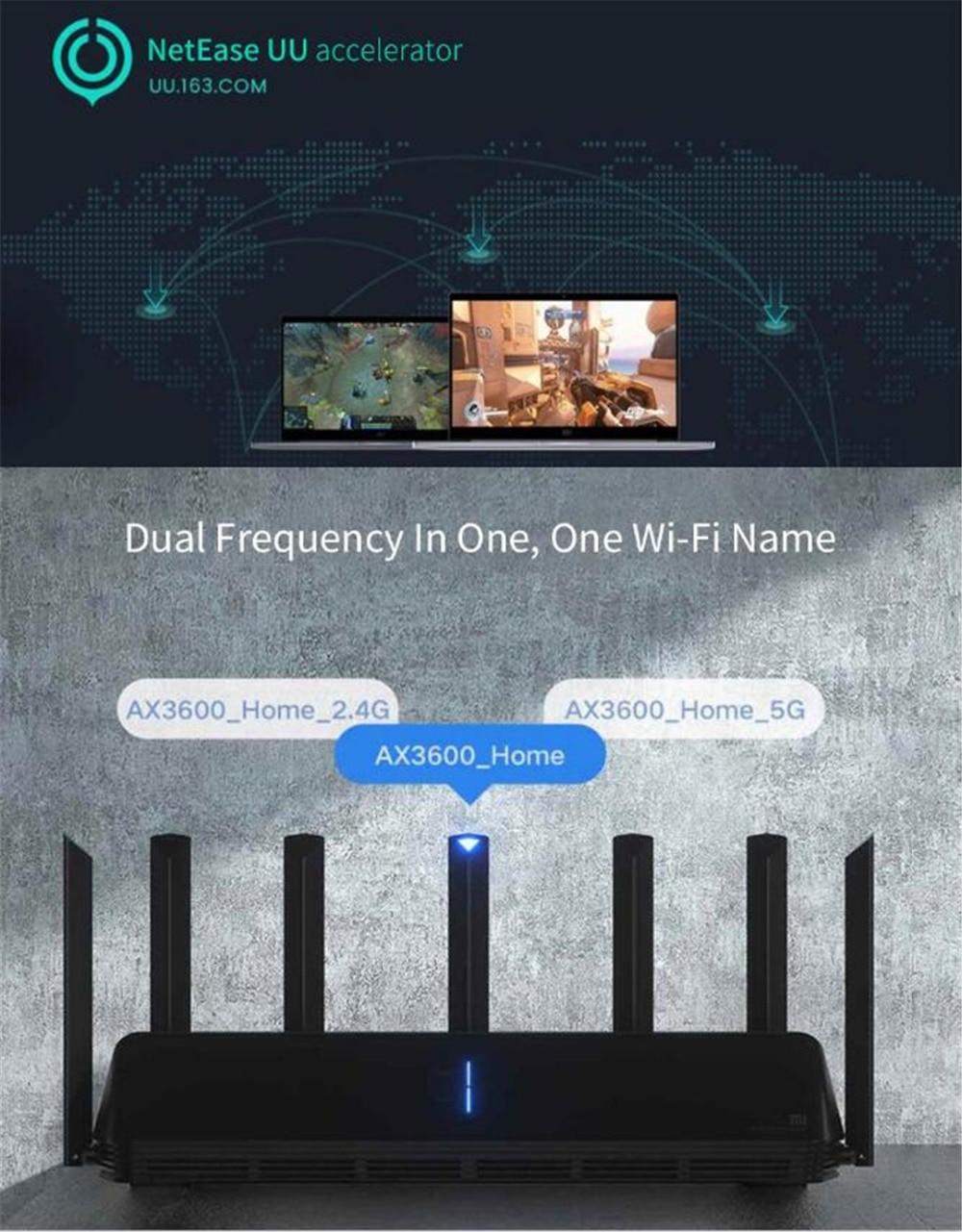 NEW Xiaomi AX3600 AIoT Router Wifi 6 5G Wifi6 600Mb Dual-Band 2976Mbs Gigabit Rate Qualcomm A53 External Signal Amplifier (20)