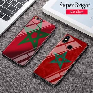 Black Cover MA Maroc Morocco Flag for Xiaomi Mi A1 A2 5X 6X 6 8 9 9SE CC9 F1 9T 9TPro Mi Play Super Bright Glossy Phone Case(China)