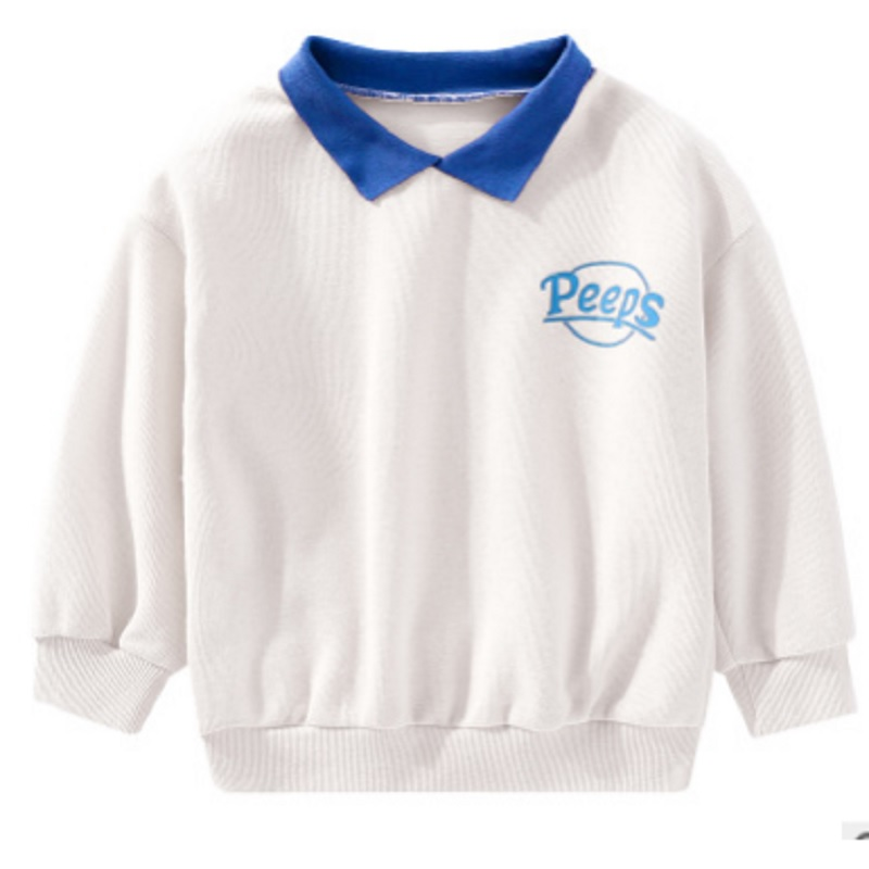 Hoody Girls Spring/autumn Kids Children's New Casual Letter Size4-14 Ly382 Turn-Down-Collar