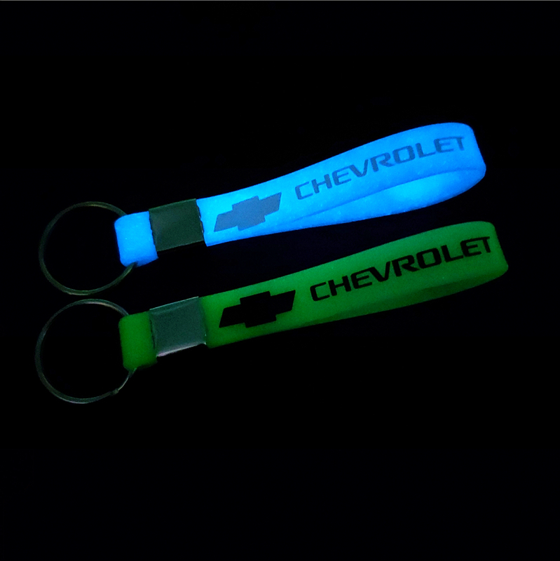 Car Sticker Luminous Key Holder Gift Key Chains KeyRings For Chevrolet Cruze TRAX Aveo Lova Sail EPICA Captiva Malibu Volt