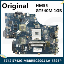 Laptop Motherboard 5742G ACER LA-5893P GT540M for Mbbrb02001/Mb.brb02.001/New71/.. 1GB