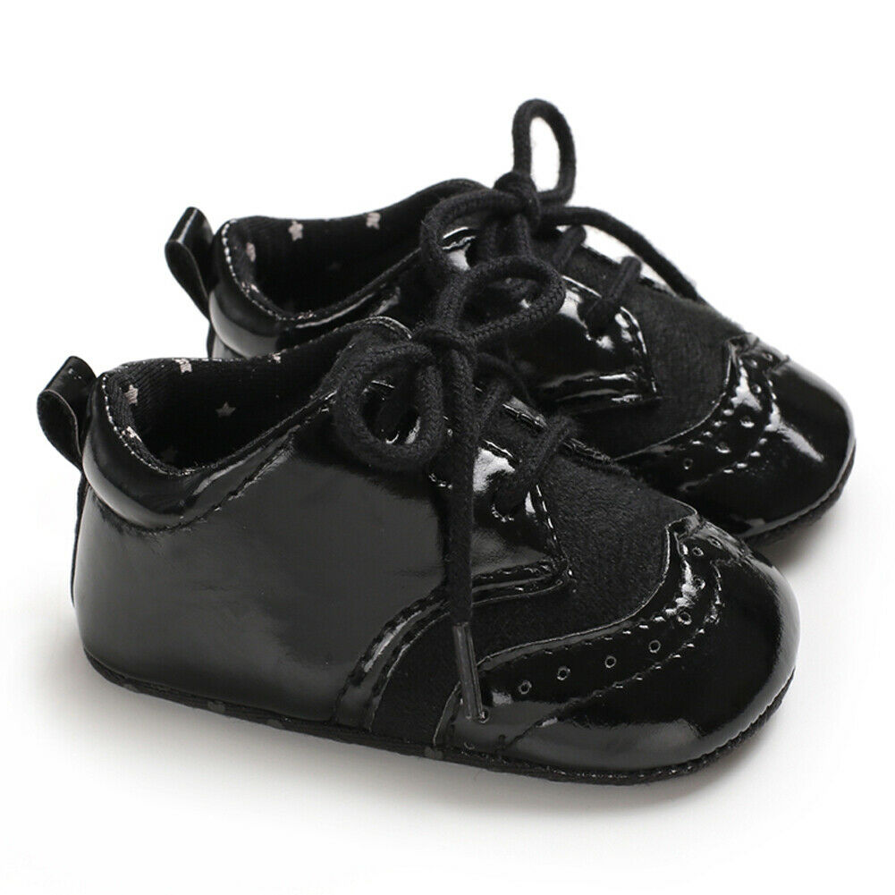 2019 Tie Up Hot Toddler Girl Crib Shoes Newborn Baby Leather Soft Sole Prewalker Sneakers Baby Soft Sole First Walkers Casual
