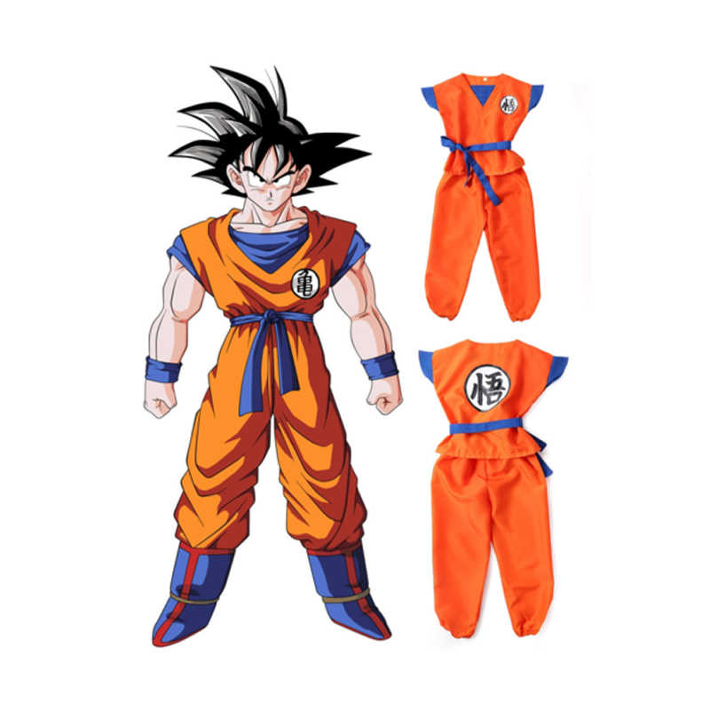 Halloween Anak-anak Dewasa Anak-anak Remaja Dragon Ball Z Goku Kostum Anime Dragon Ball Cosplay Pesta Kostum Wig