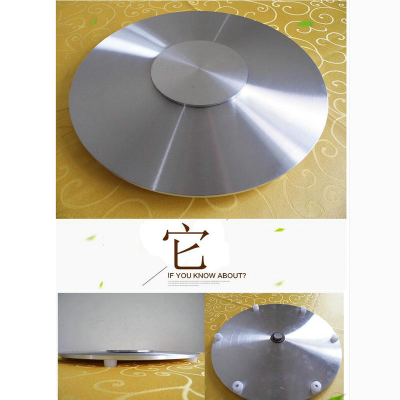HQ IL02 Aluminium Alloy Lazy Susan Turntable Base For Glass Table Swivel With Smooth Needle Roller Bearing