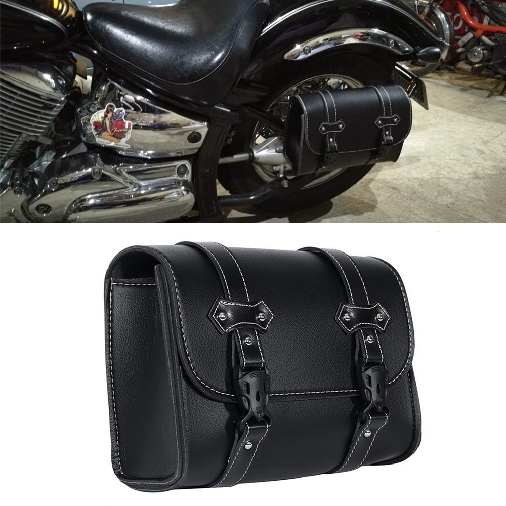 Leather PU Saddlebag For Harley Dyna Softail Touring Sportster XL883 XL1200 XL 883 Saddle Side Tool Bag Luggage Pouch Toolbag