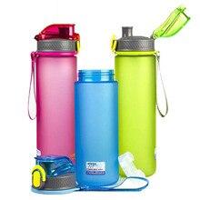 Sport Crystal Water Bottle 600ml/750ml Outdoor Travel Portable Leakproof Tritan Plastic Kids Drink BPA Free Custom Logo