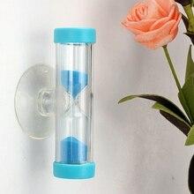 1 шт цвет случайный мини 3 минуты Песочные часы Таймер Ampulheta для чистки зубов душ таймер присоска