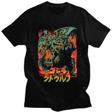클래식 Necronomicon Octopus Lovecraft Tshirt 반팔 코튼 티 셔츠 신들의 충돌 Cthulhu 티셔츠 공포 영화 티
