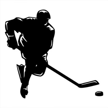 18x16cm hockey Sportman athlete Lover Boy Stickers Car Decal Car Rear Windshield Silhouette StickersCL325 image