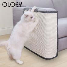 Cat Kitten Scratch Board Pad Sisal Toy Sofa Furniture Protector Cat Claw Care Product Cats Scratcher Paw Pad with Invisible Nail