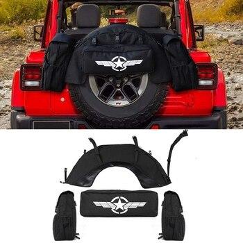 Spare Tire Waterproof Cargo Bag Storage Organizer for J-e-e-p Wrangler JK JL 1997-2019 Car Accessories