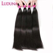 Tissage en lots brésiliens Non Remy 100% naturel-Luduna Hair, Extensions de cheveux, lisses, couleur naturelle, lots de 1/3/ 4, offre