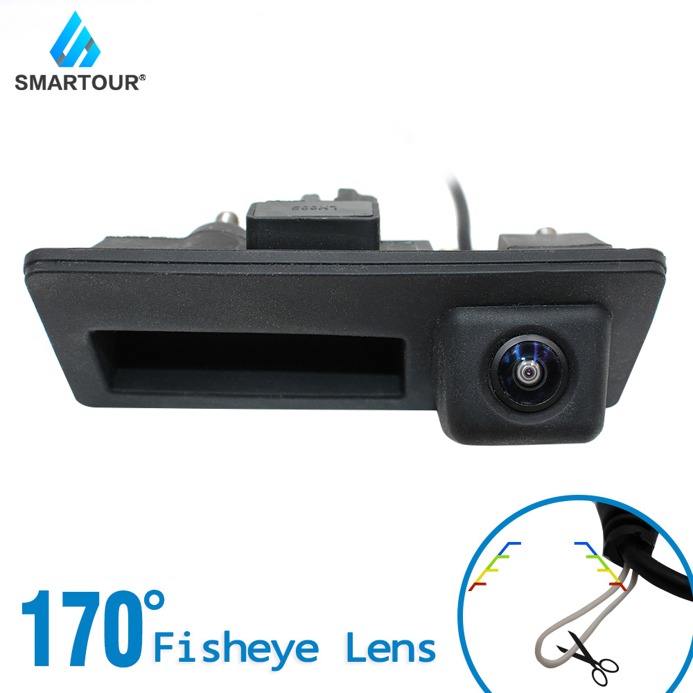Smartour HD Starlight Night Vision MCCD Fisheye Lens Car Rear View Trunk Handle Camera For VW Passat Tiguan Golf Jetta Sharan
