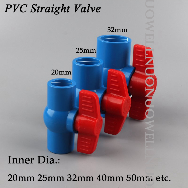 Size : Inner Dia.63mm Tubes Pipes /& Hoses 5pcs PVC Inner Diameter20//25//32//40//50mm Connector UPVC Pipe Fittings Wate Supply Adapter Fish Tank Pipe Drainage Connector