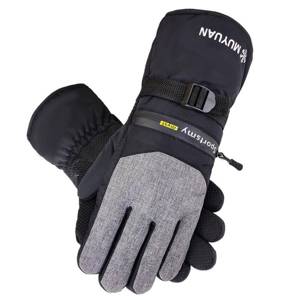 1 пара, ветрозащитные защитные мужские лыжные перчатки для занятий спортом на открытом воздухе, теплые водонепроницаемые перчатки для катания на мотоцикле, сноуборде