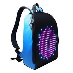 Новый светодиодный светильник для рекламы, умный рюкзак с Wi-Fi и управлением через приложение, уличный рюкзак для прогулок со светодиодным э...