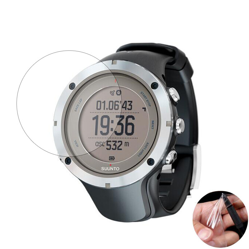 3pc TPU Soft Clear Protective Film Guard For Suunto Ambit 3 Peak Sport Watch Ambit3 Smartwatch Screen Protector Cover (Not Glass